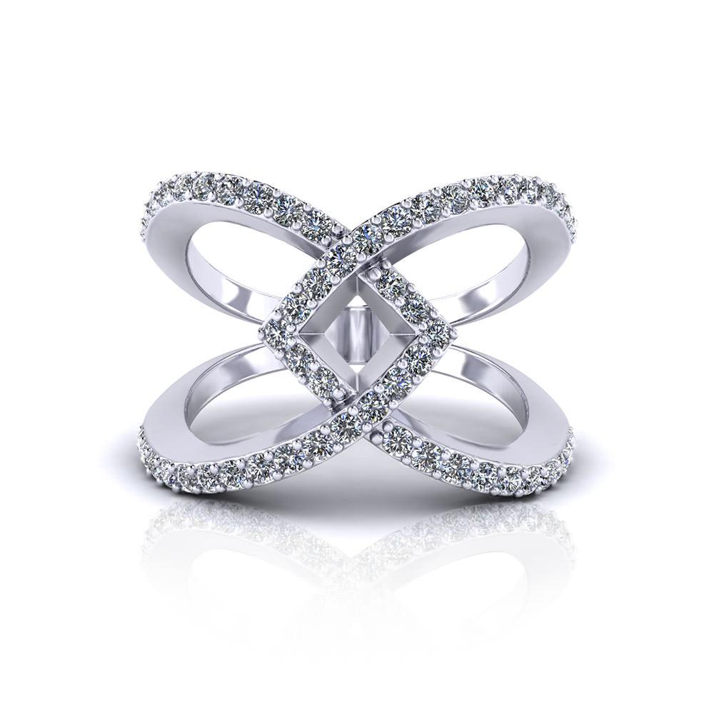 Ladies Wide Diamond Ring - Jewelry Designs