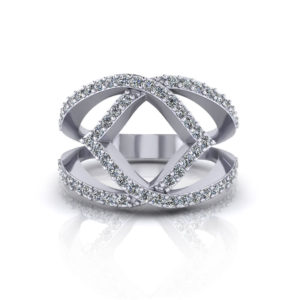 Wide Diamond Fashion Ring