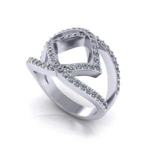Wide Diamond Fashion Ring