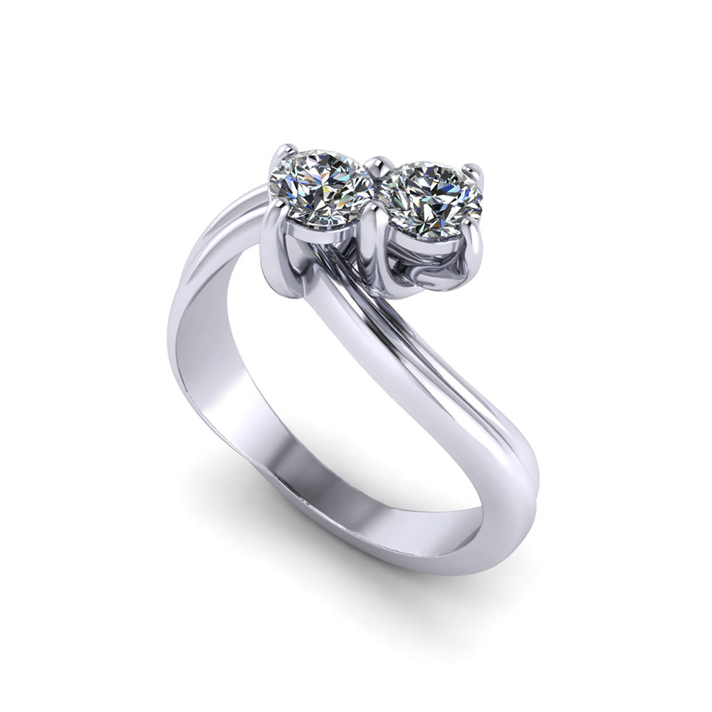 Yellow diamond ring rose gold