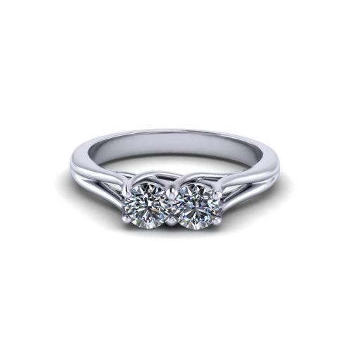 Trellis Two Stone Diamond Ring