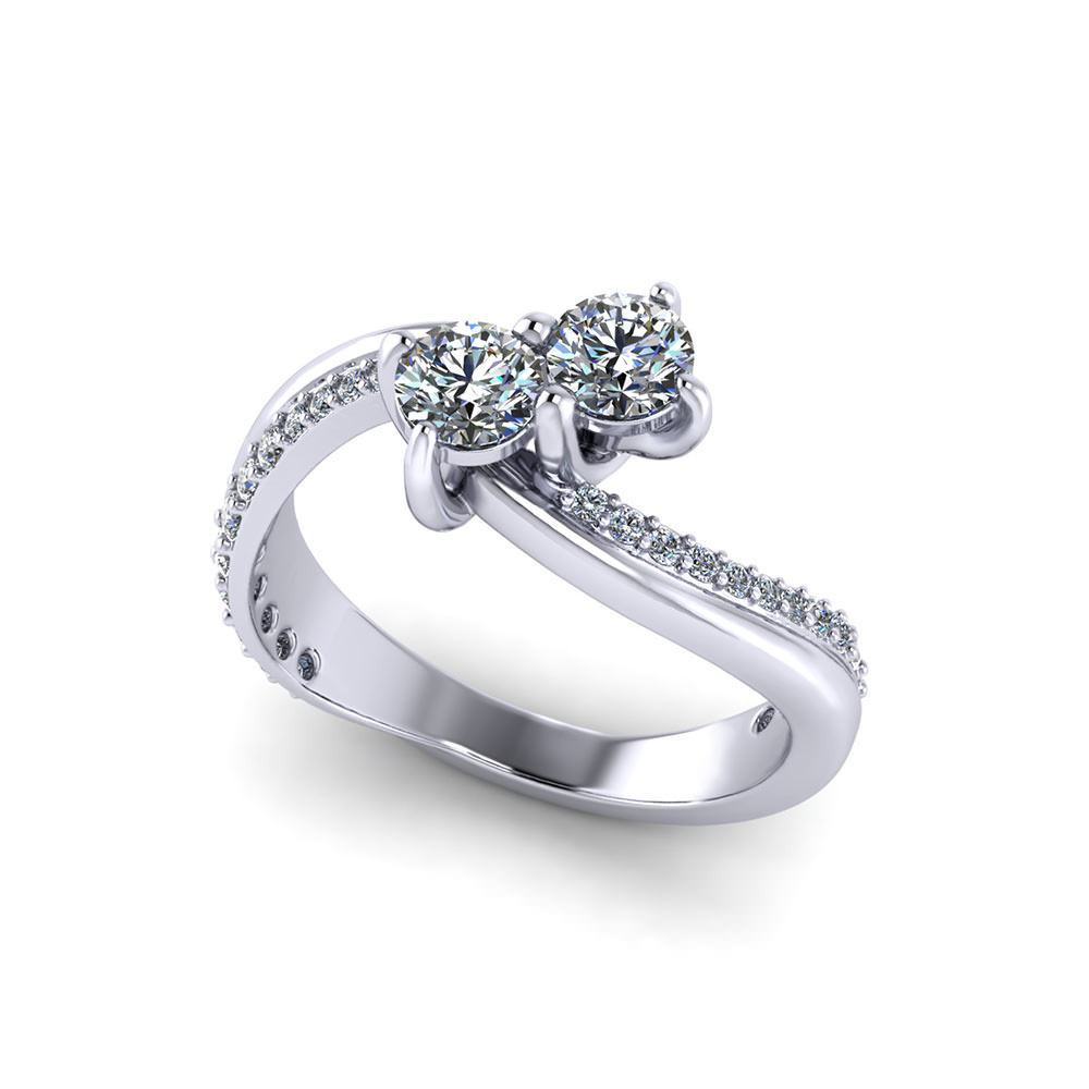Two Stone Engagement Ring Designs