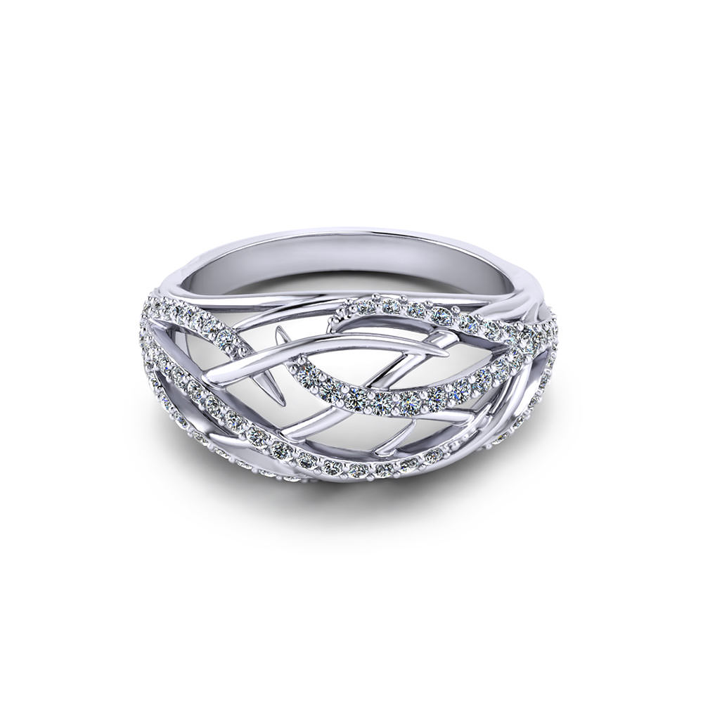 Diamond Dome Ring