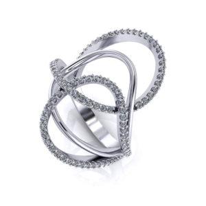 Loopy Diamond Ring