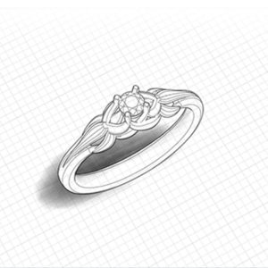 Floral Promise Ring
