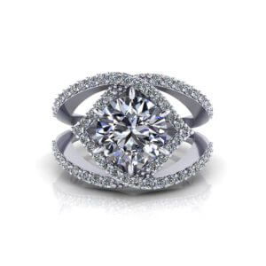 Wide 2.5 Carat Diamond Ring