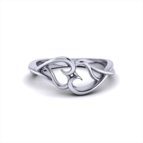 Interlocking Heart Promise Ring