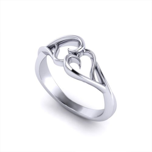 Interlocking Heart Promise Ring