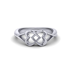 Joined Heart Promise Ring