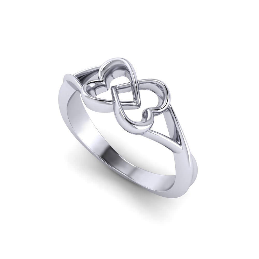 Joined Heart Promise Ring
