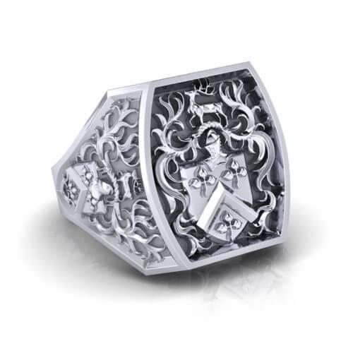 Raised Family Crest Ring
