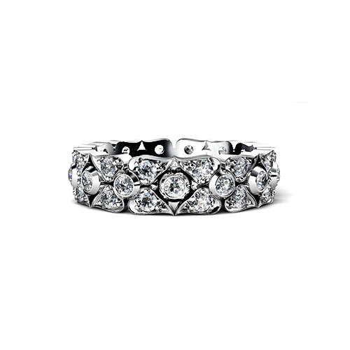 Diamond Petal Wedding Ring