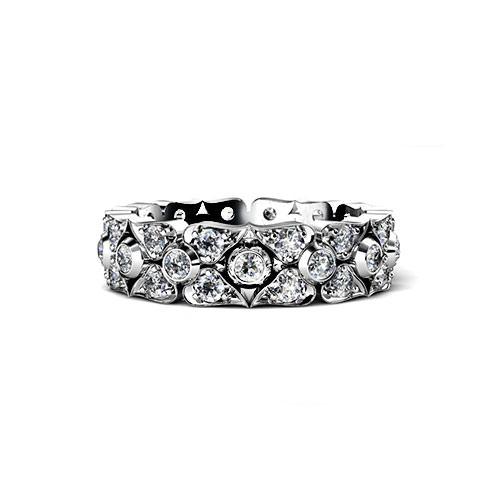 Diamond Petal Wedding Ring
