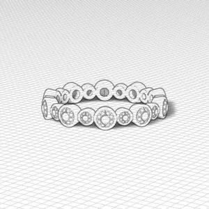 Diamond Bezel Eternity Band
