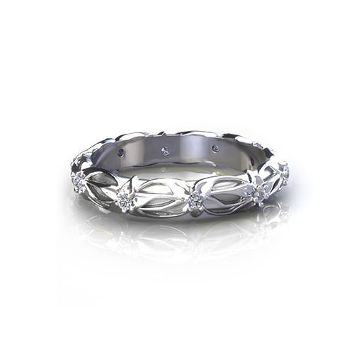 Floral Diamond Wedding Ring