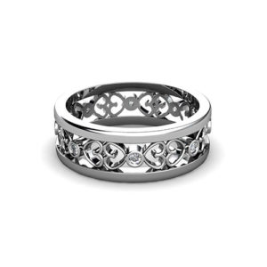 Open Heart Filigree Wedding Ring