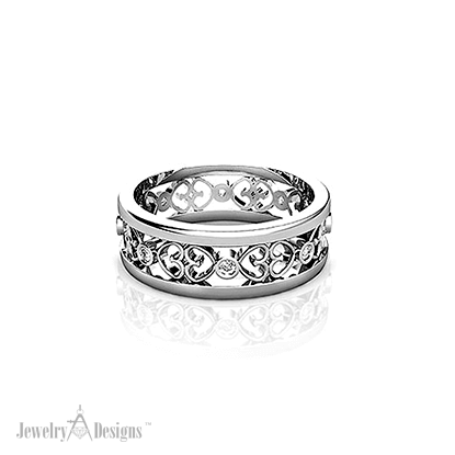 WD268-1 Filigree Diamond Ring