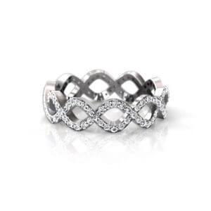 infinity diamond wedding band. Infinity Diamond Wedding Ring Band