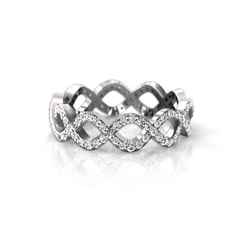 Infinity Diamond Wedding Ring