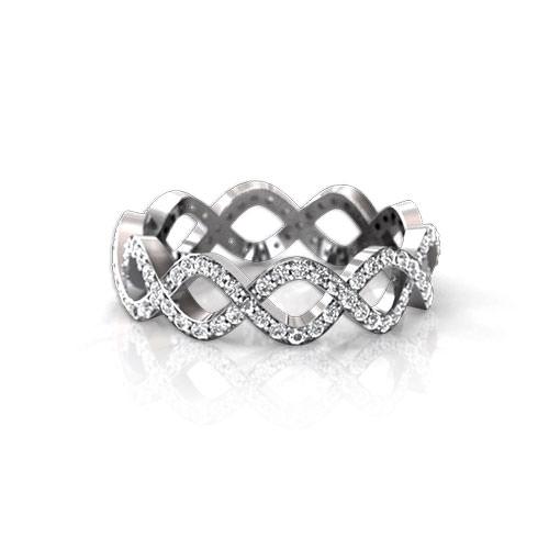 Infinity Diamond Wedding Ring Jewelry Designs