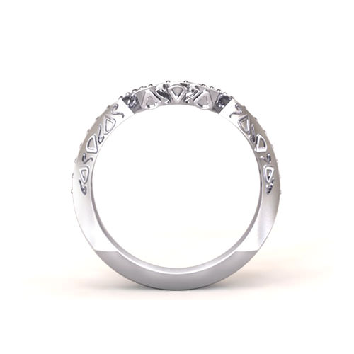 Angular Fitted Wedding Ring- angle