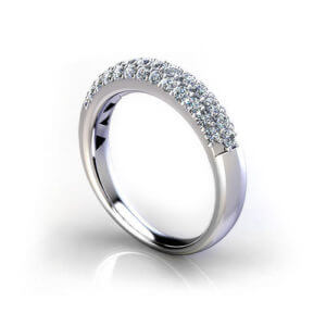 Tapered Pave Wedding Ring