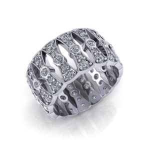 Wide Diamond Wedding Band