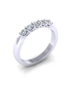 Trellis Diamond Wedding Ring