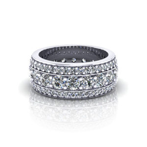 Bead Set Diamond Eternity Wedding Ring