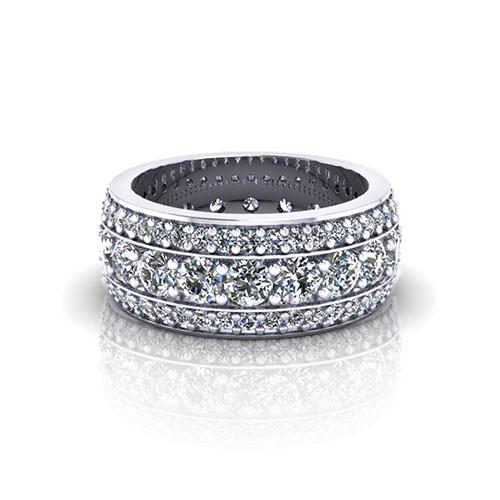 Bead Set Diamond Eternity Wedding Ring