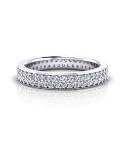 Narrow Pave Wedding Ring