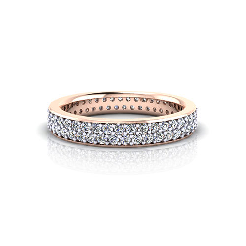 Rose Gold Pave Wedding Ring