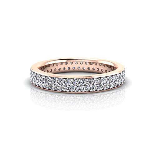 Rose Gold Pave Wedding Ring