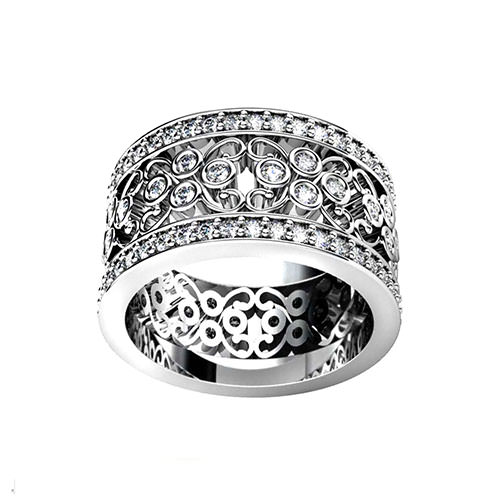 wide filigree wedding ring jewelry designs - Filigree Wedding Rings