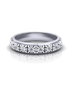 Geometric Diamond Band