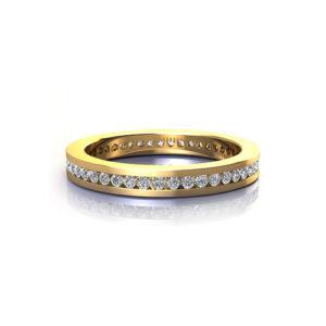 Slim Channel Wedding Ring