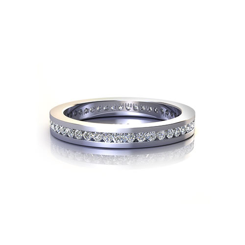 Slim Channel Wedding Ring