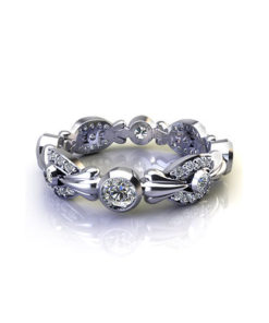 Fluted Bezel Wedding Ring