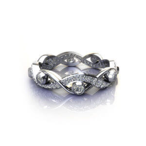 Diamond Bezel Infinity Ring