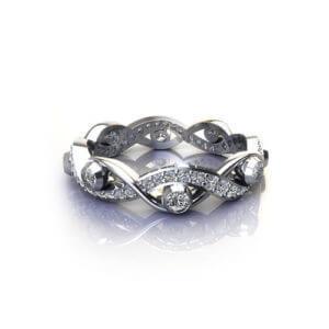 Diamond Bezel Infinity Ring