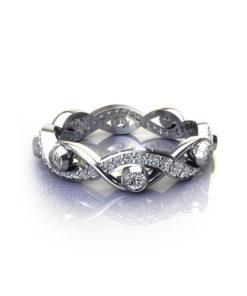 Woven Diamond Eternity Ring