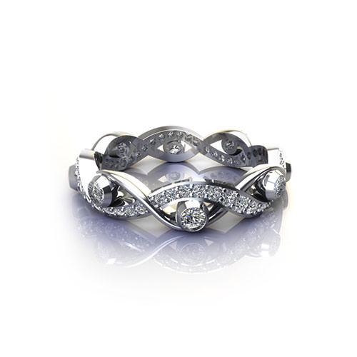 Woven Diamond Eternity Ring