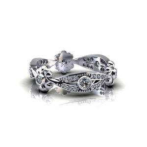 Diamond Floral Wedding Ring