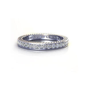 Etched Eternity Ring