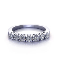Pronged Diamond Wedding Ring