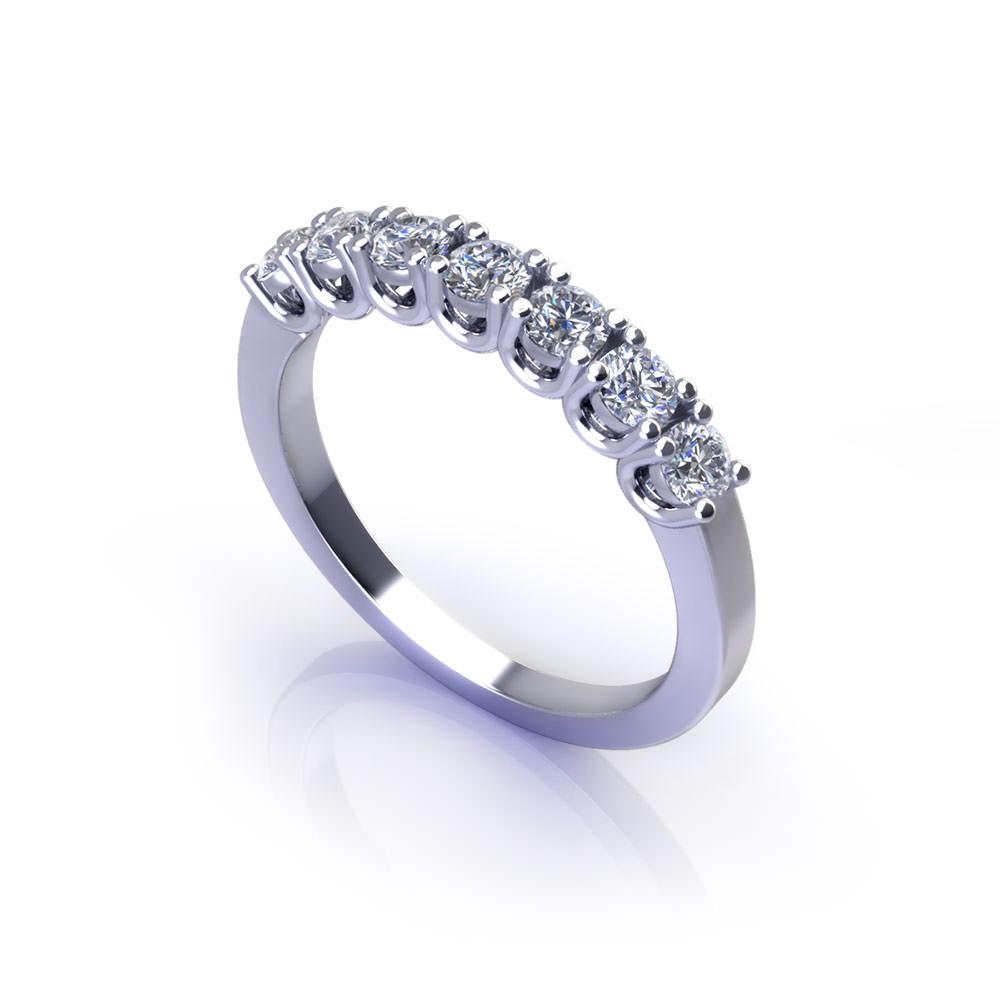 Pronged Diamond Wedding Ring