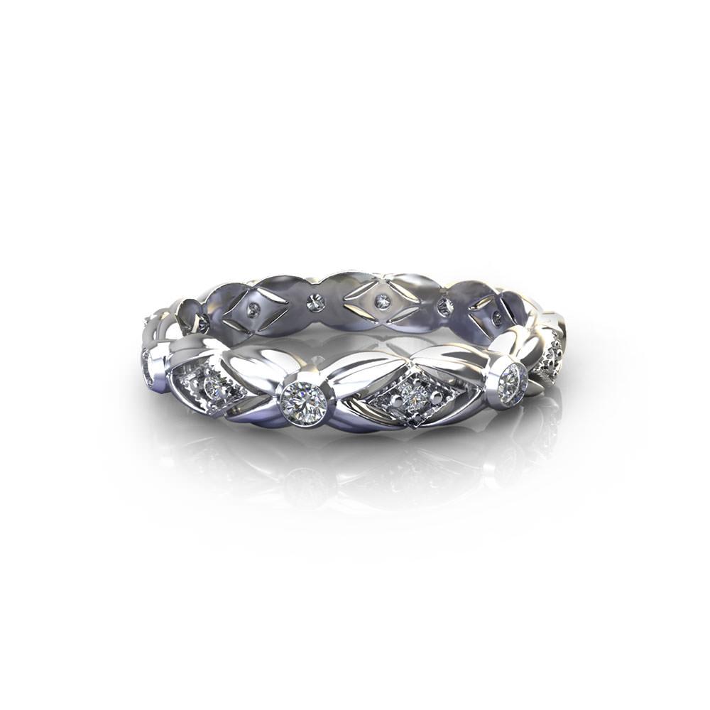 Floral Leaf Diamond Wedding Ring Jewelry Designs