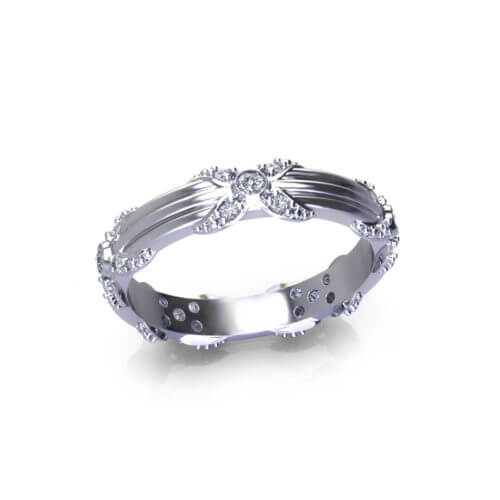 ribbed floral wedding ring jewelry designs