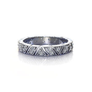 Milgrain Diamond Wedding Ring