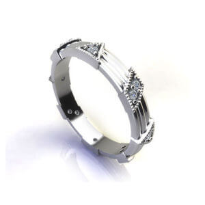 Confetti Diamond Wedding Ring